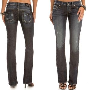Guess Daredevil Bootcut Jeans Mariposa Wash 28